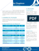 Ficha Técnica Argamassa de Chapisco