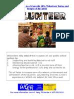 wcer volunteer flyer