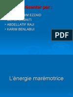 L'Énergie Electrique en Energie Marine