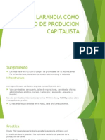 Larandia Como Modelo de Producion Capitalista