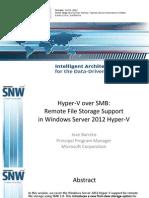 SNWFall2012 Hyper-VoverSMB JoseBarreto
