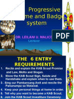 KAB Scout Advancement Scheme