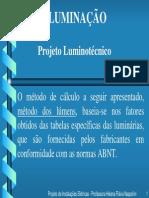 Auxilio ao projeto luminotecnico