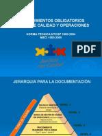 Procedimientos Obligatorios Manual de Calidad y Operaciones