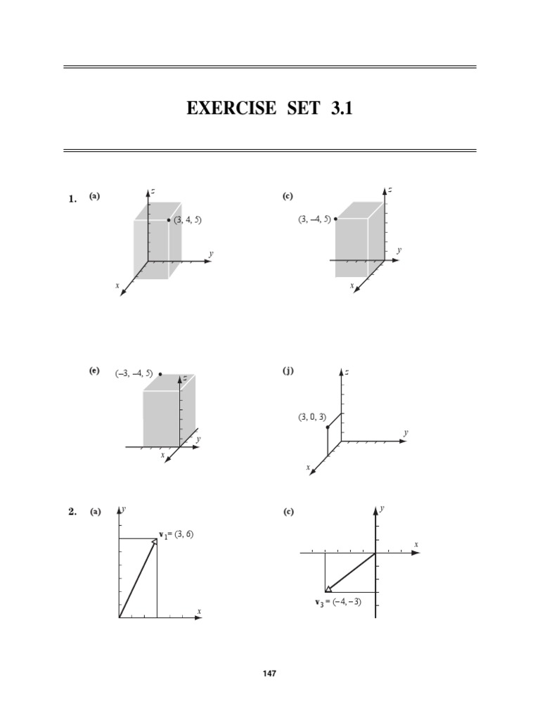 Anton Linear Algebra 10th edition Solutions Set 3.3
