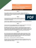 Uredba o Nacinu Priznavanja Inostranih Isprava i Znakova Usaglasenosti