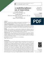 MD Towards Multidisciplinary Definition of Innovation