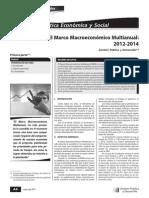 Analisis del Marco Macroeconomico Multianual 2012