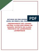 Trabajo Final Perfil Illimo - San Pedro de Sasape