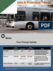 Metro ridership trends