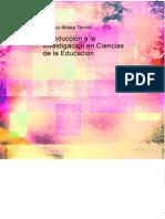 Introduccion a La Investigacion en Ciencias de La Educacion