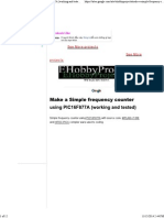 Make a Simple Frequency Counter Using PIC16F877A (Working and Tested) - Ehobbyprojects