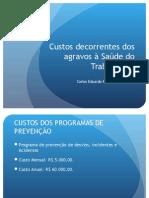 Custos Decorrentes de Doenças Ocupacionais 2013