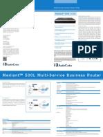 Mediant 500L MSBR Datasheet