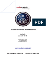 Akg Aus Price List Jan 10 Rrp