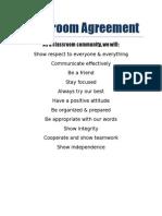 classroom agreement