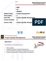 PQM Unit 1 Project Quality Management PPT Final