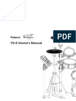 Roland TD-9 manual