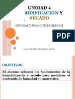 Unidad 4 Humidificación y Secado