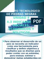 Alta Direccion 4.3 indicadores sociales economicos y politicos