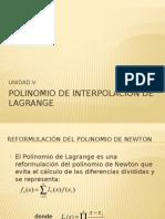 Polinomio de Interpolación de Lagrange