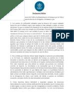 Declaración Pública CADe UC
