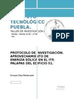 Protocolo de Investigacion Aerogenerador