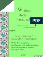 E Body Paragraphs