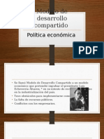 Modelo de Desarrollo Compartido Estructuras Socioeconómicas de México