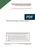 Maintenance and Repair of Pressure Vessels