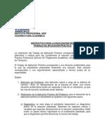 Instructivo Desarrollo Trabajo de Aplicación Práctica