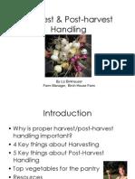 Harvest & Post-harvest Handling by Liz Birkhauser
