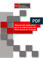 Manual del Aplicativo para la elaboración y monitoreo del Plan del Trabajo 2015