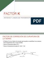 Factor k Corrección