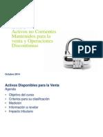 Presentacion IFRS 5 Activos No Corrientes-1