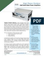 Paradise Datacom Outdoor GaN High Power SSPA 211669 RevE