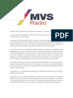 POSTURA MVS SOBRE CONFLICTO CON CARMEN ARISTEGUI