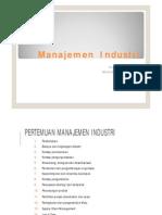Pendahuluan - Manajemen Industri
