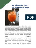 Bebida Milagrosa_cenoura, Beterraba e Maça e Um Pouco de Limão_previne Cancer