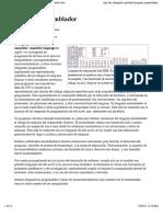 Lenguaje Ensamblador - Wikipedia, La Enciclopedia Libre