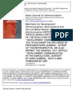 Manifesto for Development Communication