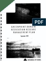 Greenpoint Domain Management Plan 1999 FINAL