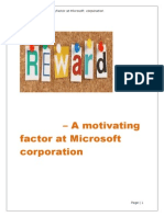 Rewards - A Motivatingfactor at Microsoft Corporation