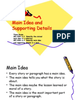 main idea and supporting details ppt