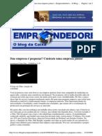 2009-08-23 - Sua Empresa é Pequena Contrate Uma Empresa Júnior
