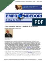 2009-09-11 - Como Economizar Sem Tirar a Qualidade Do Seu Produto