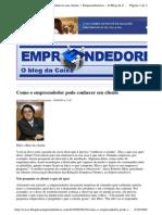 2009-09-16 - Como o Empreendedor Pode Conhecer Seu Cliente
