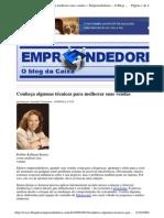 2009-09-18 - Conheça Algumas Técnicas Para Melhorar Suas Vendas