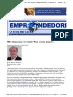 2009-09-21 - Oito Dicas Para Você Vender Bem Os Seus Projetos