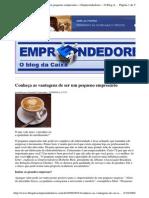 2009-09-23 - Conheça as Vantagens de Ser Um Pequeno Empresário